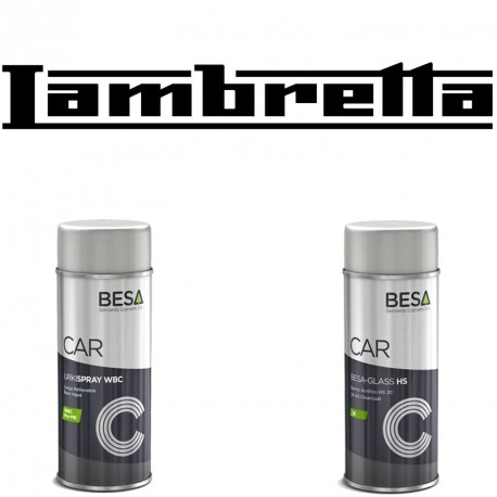 kit bombe de peinture lambretta vernis bicomposants. Black Bedroom Furniture Sets. Home Design Ideas
